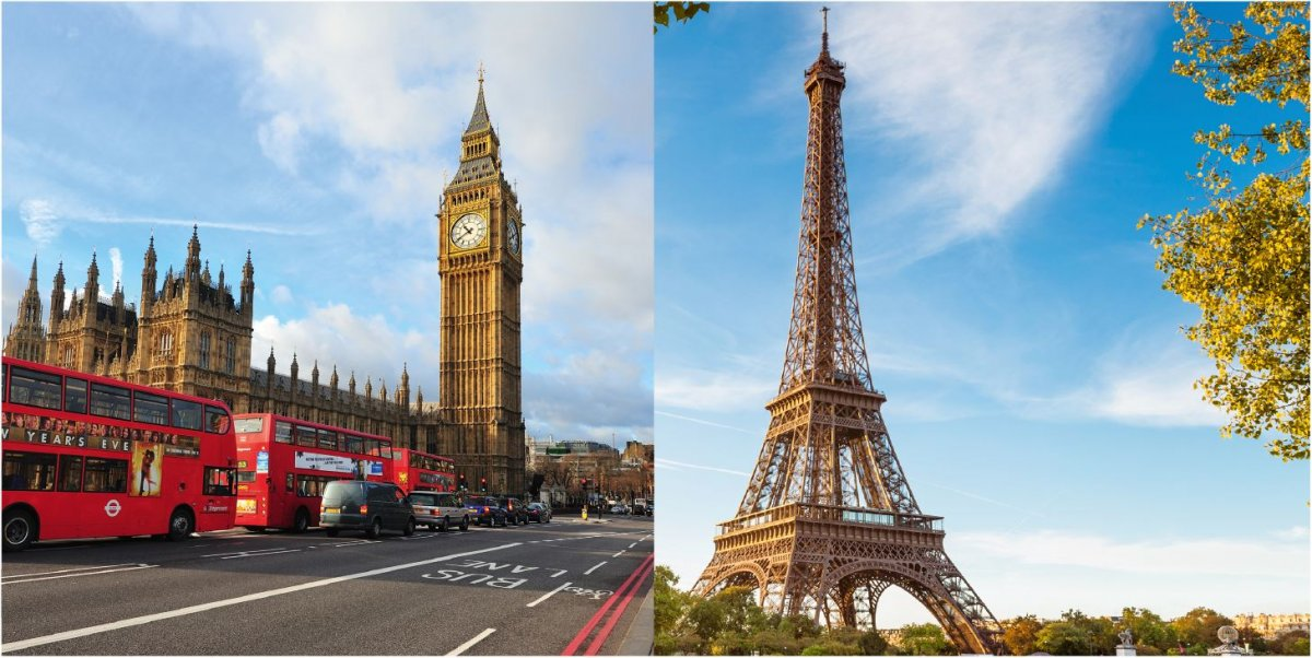 Paris und London.
