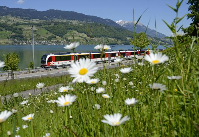 Luzern-Interlaken Express vor Sarnersee