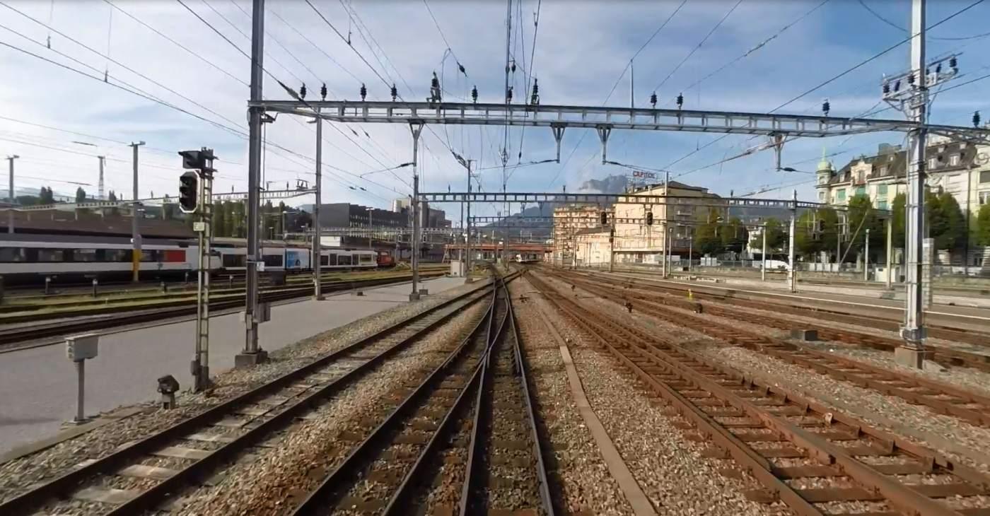 Gleise Bahnhof Luzern