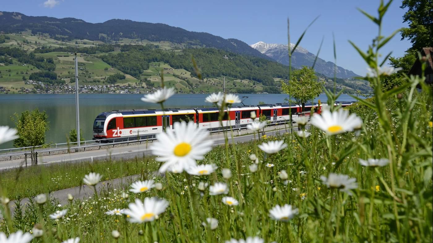 Luzern-Interlaken Express vor Sarnersee