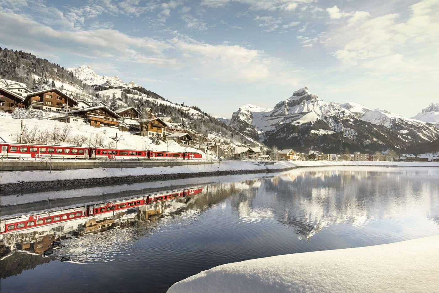 Luzern-Engelberg Express in Engelberg