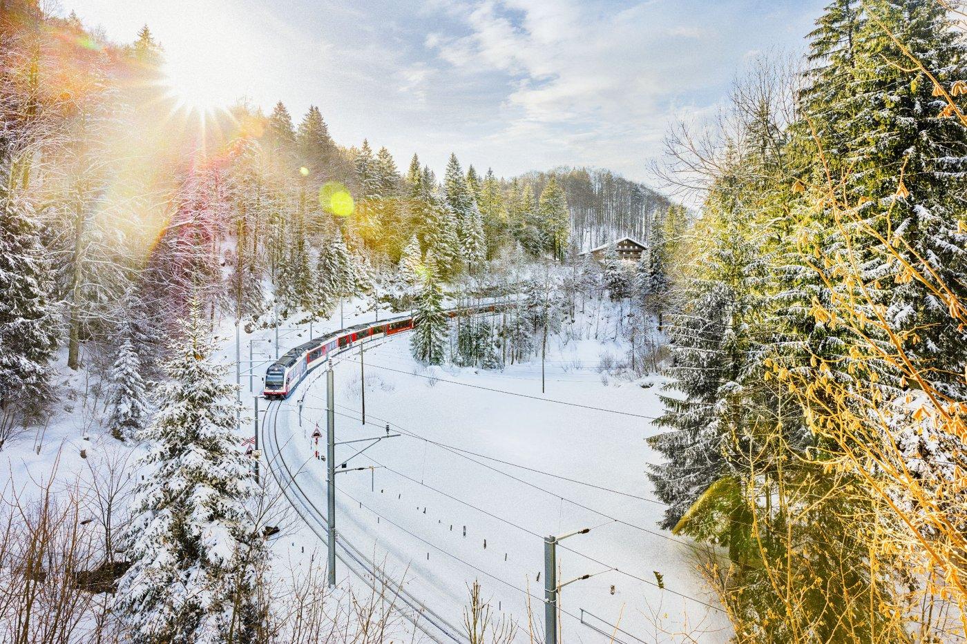 Brünig Pass Luzern-Interlaken Express.