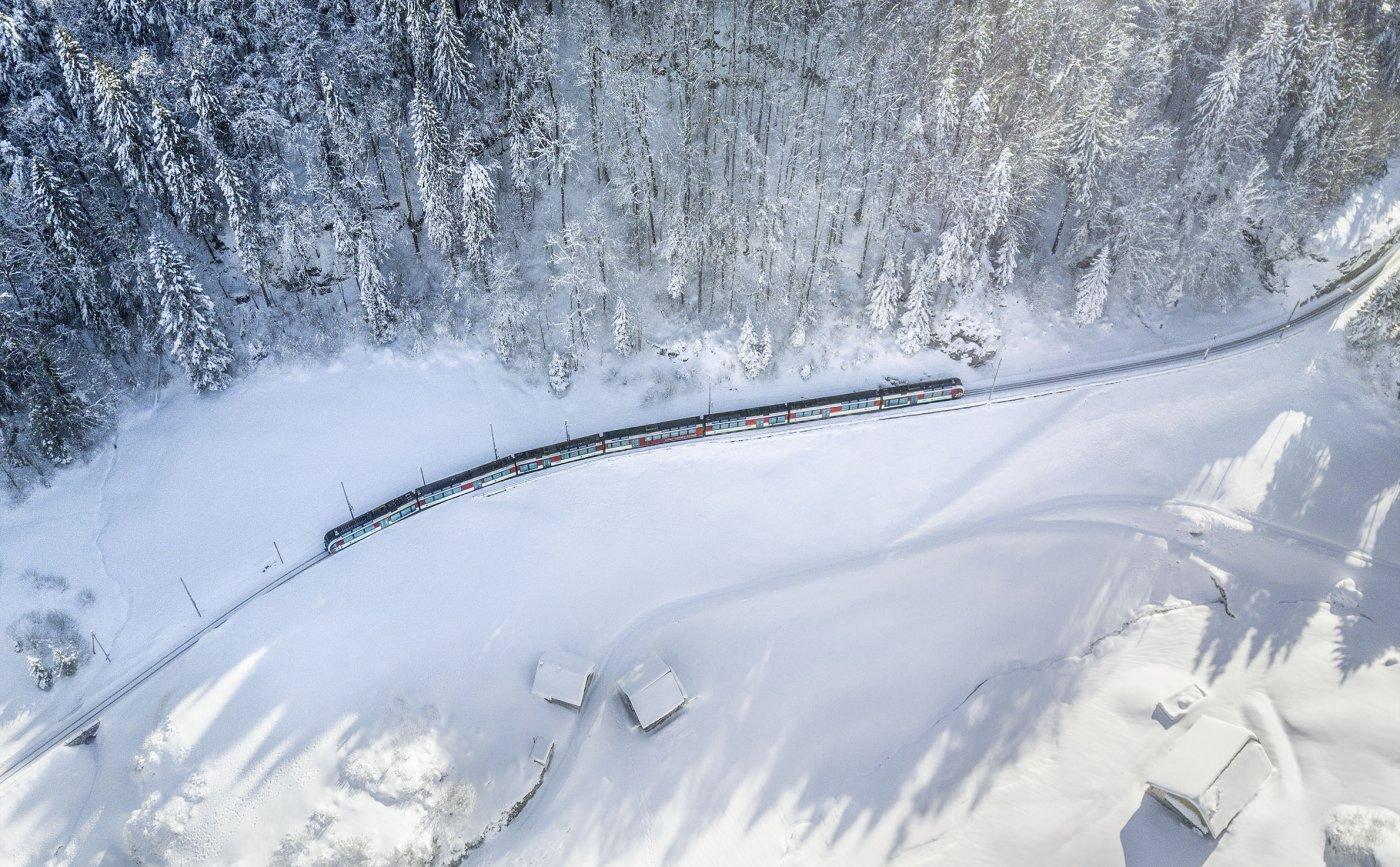 Haslital im Schnee